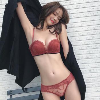 维妮芳静谧烟雨半杯聚拢文胸套装