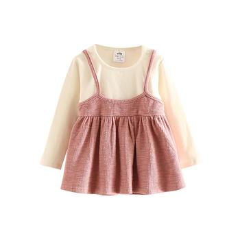 贝壳元素宝宝假两件娃娃衫tx8869