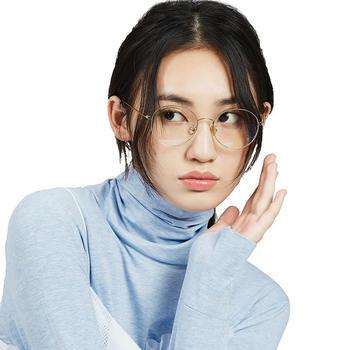 音米精工金属眼镜框圆框眼镜框女