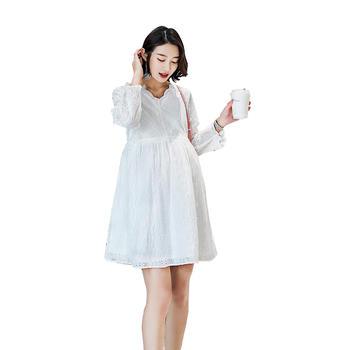 天喜孕妇装纯棉秋孕妇哺乳连衣裙