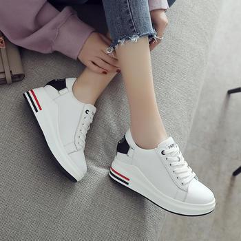 ZHR-内增高牛皮厚底小白鞋单鞋女