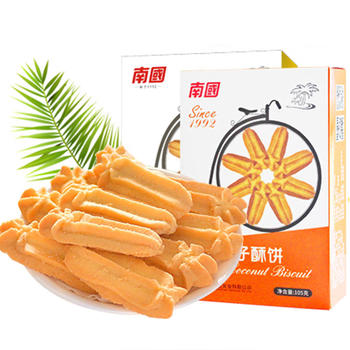 南国海南椰子酥饼105gX2盒香酥好吃