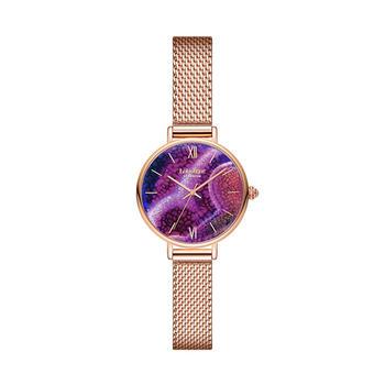 Lola Rose Aqua Purple Agate系列紫玛瑙纹理表盘石英女表