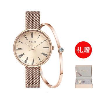 ADEXE【礼盒套装】INS小众时尚石英手表女士手表