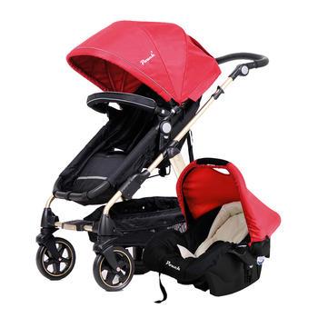 Pouch高景观婴儿推车P680+提篮组合