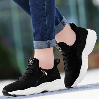 内增高耐磨运动鞋女透气超轻女鞋