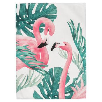 范居态度植物火烈鸟多用盖巾