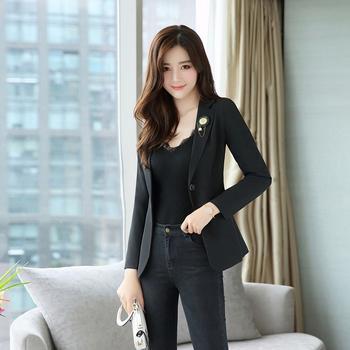 UYUK韩版时尚修身一粒扣短外套