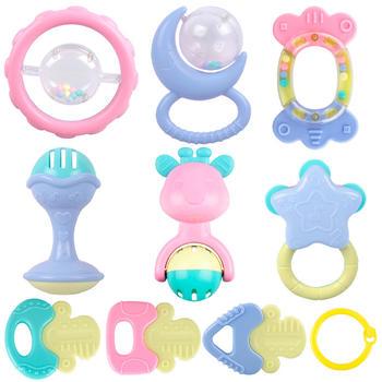 奥贝比 婴幼儿牙胶摇铃十件套
