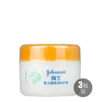强生婴儿橄榄油防护霜60g*3