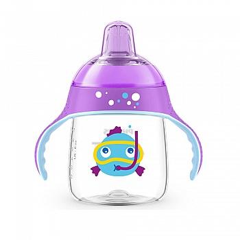 飞利浦新安怡九安士卡通企鹅杯(紫色)SCF753-35