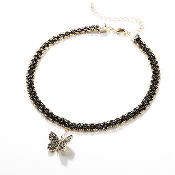 戴拉  优雅时尚蝴蝶颈链项链