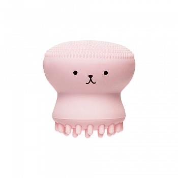 伊蒂之屋 梦幻美妆工具-水母去角质清洁刷
