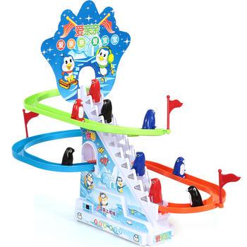 爱亲亲 企鹅爬楼梯电动轨道玩具
