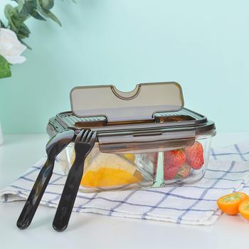 乐扣乐扣耐热2分隔玻璃保鲜盒