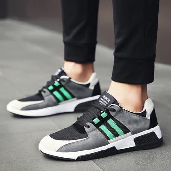跨洋 潮流时尚休?#24615;?#21160;男鞋 黑绿
