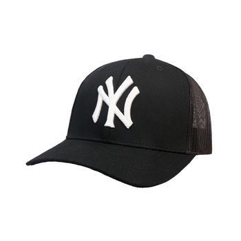 MLB棒球帽黑色?#22918;?#21487;调节网眼帽子