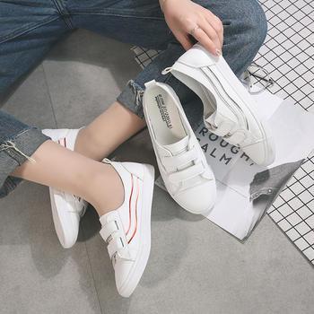娅莱娅魔术贴套脚个性休闲小白鞋