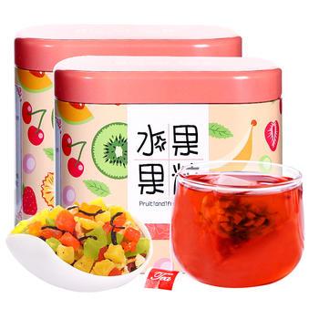 四月茶侬水果果粒45g*2罐 缤纷花果