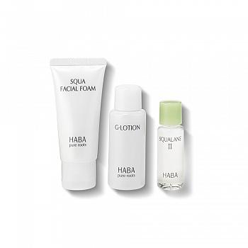 HABA体验套装(鲨烷保湿洁面乳 30g+鲨烷精纯美容油Ⅱ10ml+润泽柔肤水 40ml)