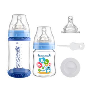 玻璃奶瓶新生儿宽口径奶瓶套装