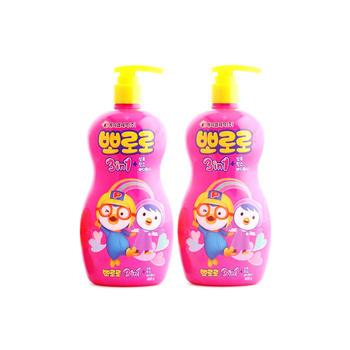 韩国啵乐乐儿童洗护三合一400ml*2