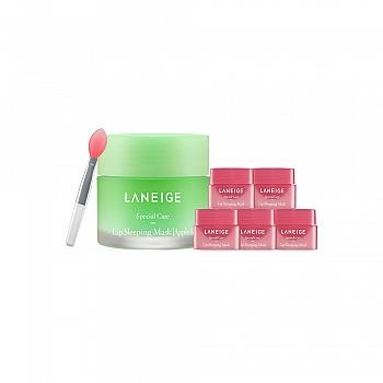 兰芝(LANEIGE)夜间保湿修护唇膜 苹果青柠 6件套组