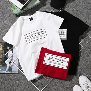红运格格原宿bf风半袖短袖T恤女