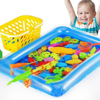 奥智嘉磁性海洋钓鱼玩具50件套
