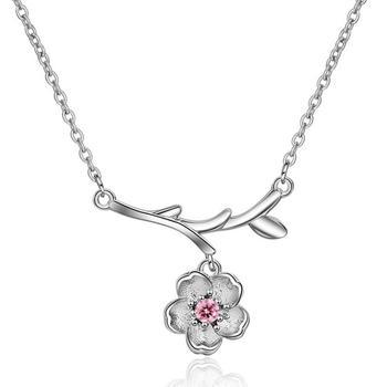 森系文艺 花朵甜美锁骨链