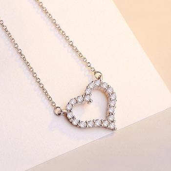 爱的心扉 镶锆石项链
