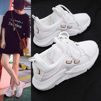 ADK夏秋新款透气小白鞋增高板鞋