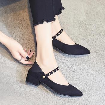 ZHR-【水钻】方头?#25351;?#20004;穿单鞋