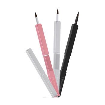 牙小白单支便携式带盖铝管口红刷美容化妆工具