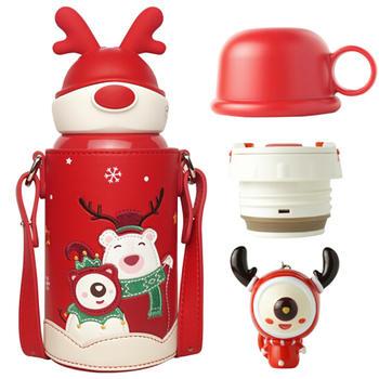 杯具熊 儿童圣诞款保温杯630ml