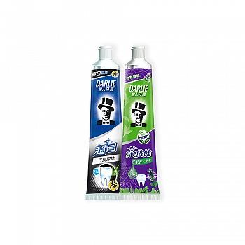 黑人牙膏超白竹炭深洁140g+黑人牙膏茶倍健百里香龙井140g