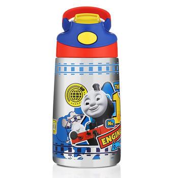 托马斯儿童防漏吸管保温水杯400ml