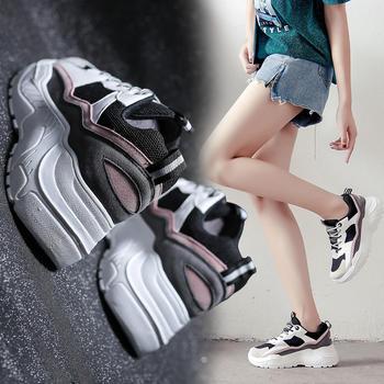 ADK新款韩版网红低帮厚底小白鞋