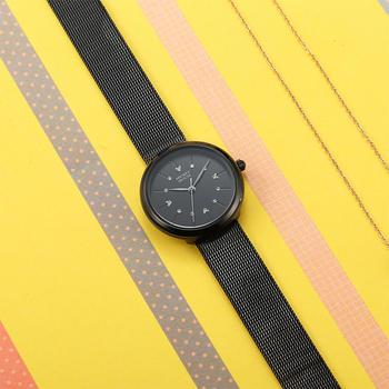 迪士尼简约镶钻表盘时装钢带手表