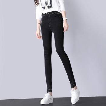 韩版显瘦打底裤女外穿薄款黑色高腰