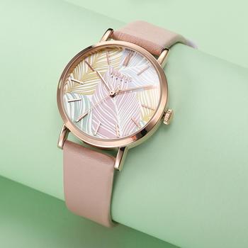 聚利时韩风彩色叶子时尚学生手表
