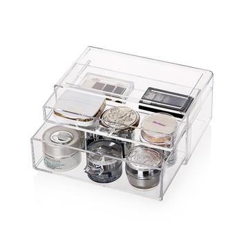 科特豪斯透明色两层化妆品收纳盒