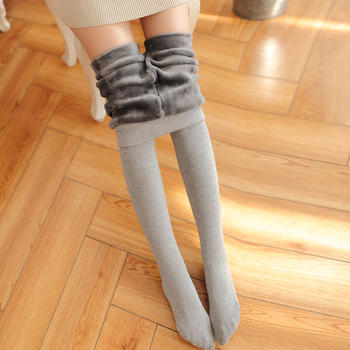 秀么 加绒加厚显瘦保暖打底裤袜