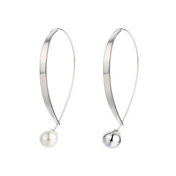 Crocus银色几何造型合金耳饰52088