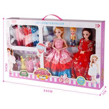 奥贝比芭比娃娃儿童女孩玩具礼盒