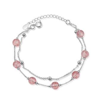 天然甜美显白显瘦草莓晶手链时尚气质百搭送闺蜜礼物