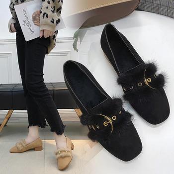 艾微妮新款时尚金属装饰粗跟女鞋