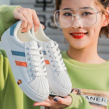 ins韩版100km休闲小白鞋冬季新款加绒保暖棉鞋女