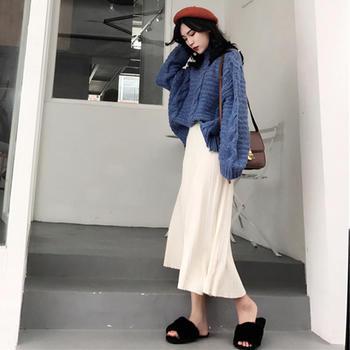 新款甜美针织毛衣配半身裙两件套