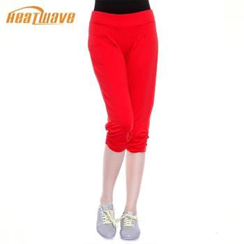 热浪 显瘦高腰七分运动裤